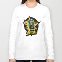 batgirl Long Sleeve T-shirts featuring Batgirl by viviennart