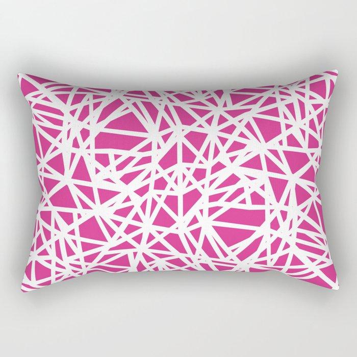 Ab Upside Down Pink Rectangular Pillow