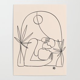 Dreamers no.4 (peach) Poster