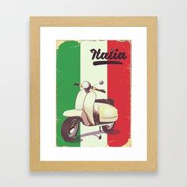 Italia Scooter vintage poster Framed Art Print