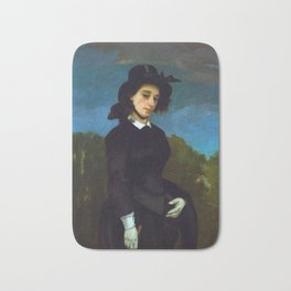 """Gustave Courbet """"Woman in a Riding Habit (L'Amazone)"""" Bath Mat"""