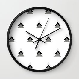 Arrows Collages Monochrome Pattern Wall Clock
