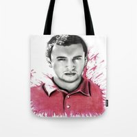 tyler spangler Tote Bags featuring Tyler Joseph by Alycia Plank