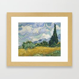 Wheat Field with Cypresses by Vincent van Gogh Framed Art Print
