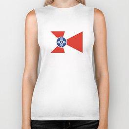 Wichita Kansas city flag united states of america Biker Tank