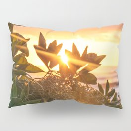 Kauai Hawaii Sunrise | Tropical Beach Nature Ocean Coastal Travel Photography Print Pillow Sham