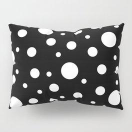 White on Black Polka Dot Pattern Pillow Sham