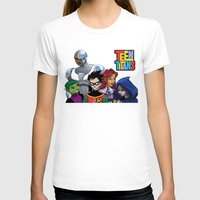 teen titans T-shirts featuring Teen Titans by Paige Thulin