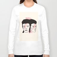 bowie Long Sleeve T-shirts featuring Bowie by NikkiMaths