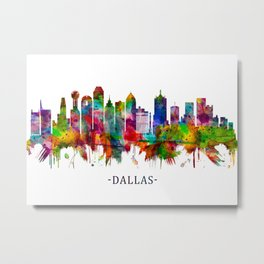 Dallas Texas Skyline Metal Print