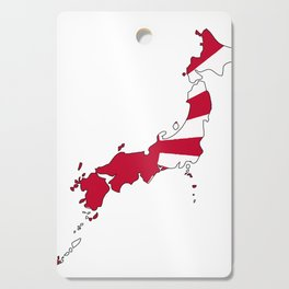 Japanese Map and Flag Cutting Board