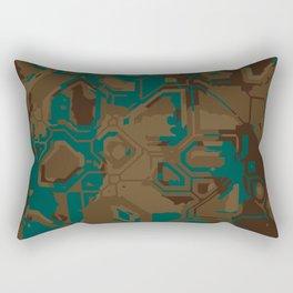 Peacock and Brown Rectangular Pillow