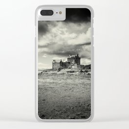 Eilean Donan Castle in Mono Clear iPhone Case