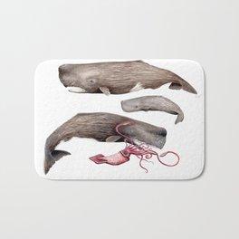 Sperm whale family Bath Mat