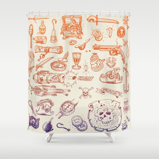 all hands on deck Shower Curtain