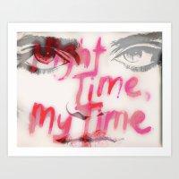 sky ferreira Art Prints featuring Sky Ferreira by Tara Kostick