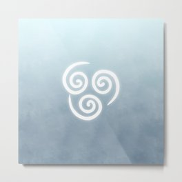 Avatar Air Bending Element Symbol Metal Print