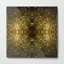 Beautiful Yellow Gold sparkles Metal Print