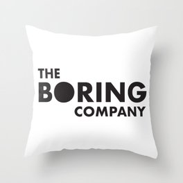 THE BORING COMPANY Throw Pillow