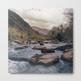 Blue River in Snowdonia Wales Metal Print