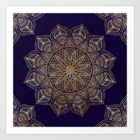 islam Art Prints featuring Gold Mandala by Mantra Mandala