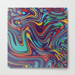 Colorful disco pattern Metal Print