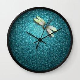 Dragonfly Mosaic Wall Clock