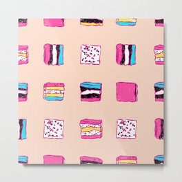 Kawaii Candies Metal Print