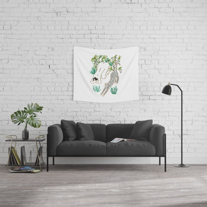 The Yoga Friends Wall Tapestry