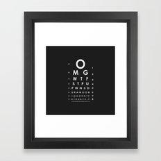 CHECK YOUR EYES Framed Art Print