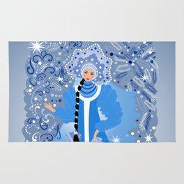 Beautiful snow maiden Rug