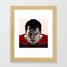 Kal-El (Man of Steel) Framed Art Print