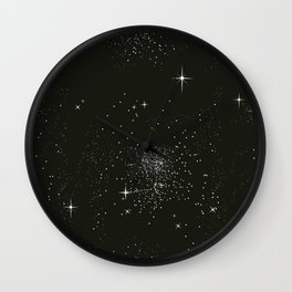 Dark night and stars Wall Clock
