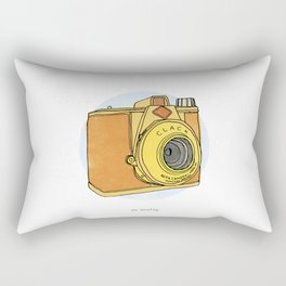 So Analog - Agfa Clack Retro Vintage Camera Rectangular Pillow