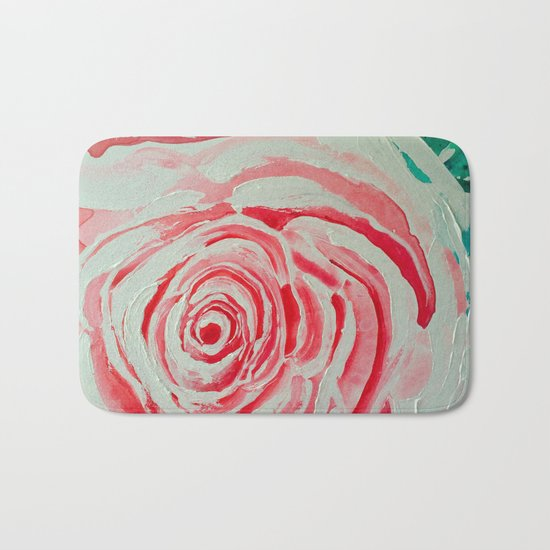 Where the Pink Roses Grow, Summer is Ending and Romantic Fall Nights are Here Bath Mat