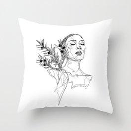 Olive (Black) Throw Pillow