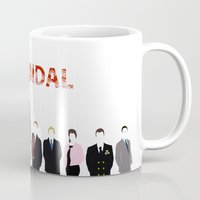 scandal Mugs featuring Scandal Minimalism by Bel17