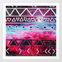aztec Art Prints featuring AZTEC by UDIN