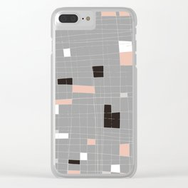 Square abstract Clear iPhone Case