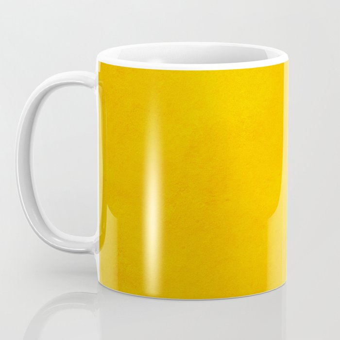 yellow curry mustard color trend plain texture Coffee Mug
