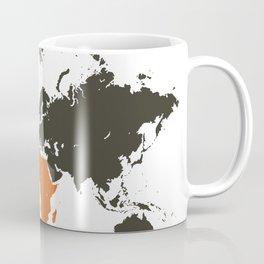 world map, Africa Coffee Mug