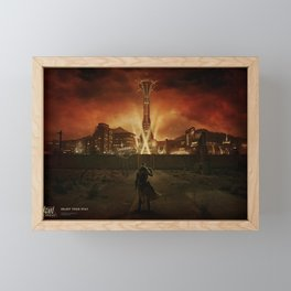 Fallout: New Vegas video games Fallout apocalyptic digital science fiction 2010 (Year) Bethesda Softworks dark sky PC gaming Framed Mini Art Print
