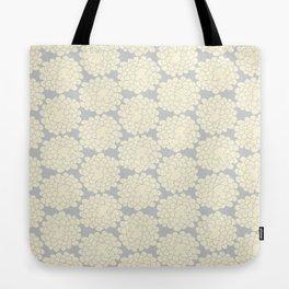 White cotton flower Tote Bag