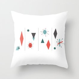 Mid Century Modern Design Throw Pillow