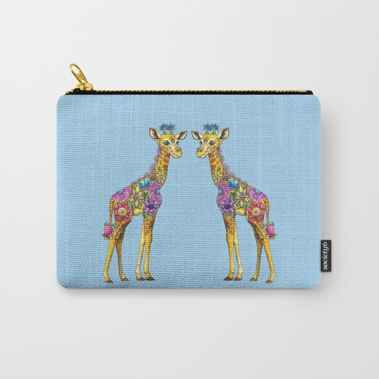 Geraldine the Geniunely Nice Giraffe Blue Carry-All Pouch