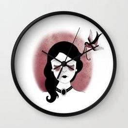 Uplifting Sparrow Wall Clock