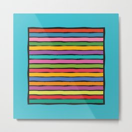 dp203-6B Colorful Stripes Metal Print