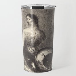 Vintage Merman Drawing - Odilon Redon Travel Mug