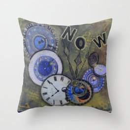 The Time is Always Now (or 11:11) Throw Pillow