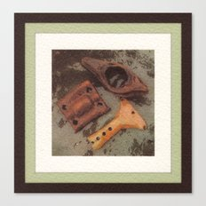 Iron, Wood, Copper Canvas Print